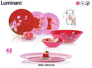 Столовый сервиз Luminarc Red Orchis 46 предметов на 6 персон (N4828)