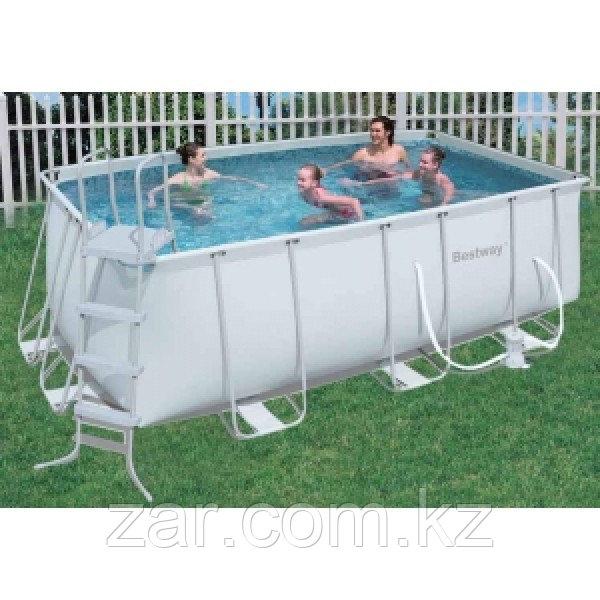 56457 BW Каркасный прямоугольный бассейн 412х201х122 см, 8124 л, песочный фильтр-насос 2006л/ч, лестница