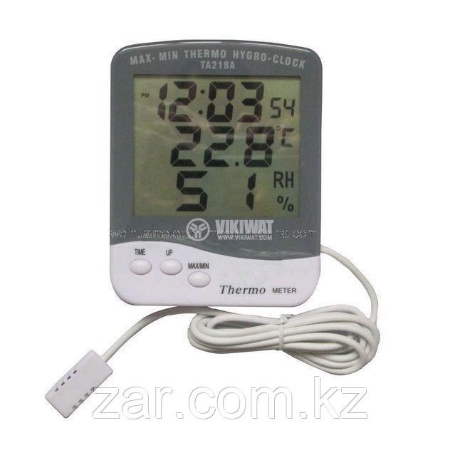 Электронный влагомер, термометр, гигрометр, часы MAX-MIN TA218A