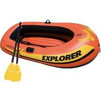 Лодка Explorer 200 двухместная до 95 кг + 2 аксессуара Intex 58331 (185*94*41 см)