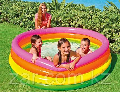 Надувной бассейн INTEX 56441 Радуга, 168 х 46 см, от 6 лет