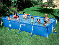 Бассейн каркасный Intex 28273 Rectangular Frame Pool, 450х220х84см