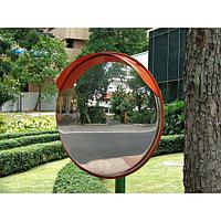 Дорожное сферическое зеркало 600 мм (с козырьком)