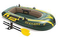 Лодка двухместная надувная INTEX Seahawk 2