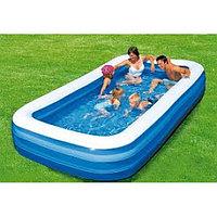 54009 BW Надувной прямоугольный бассейн, 305х183х56 см, 1161 л