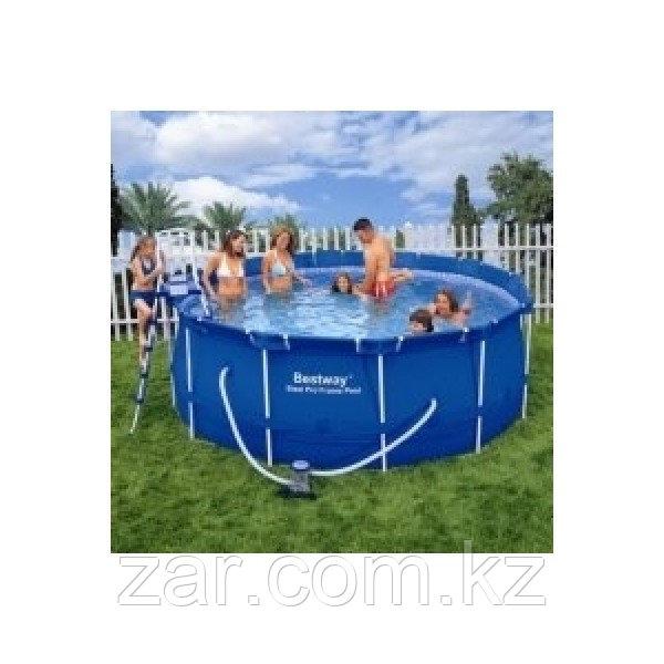 Каркасный бассейн Bestway 56418 (366*100 см)фильтр и лестница в комплекте
