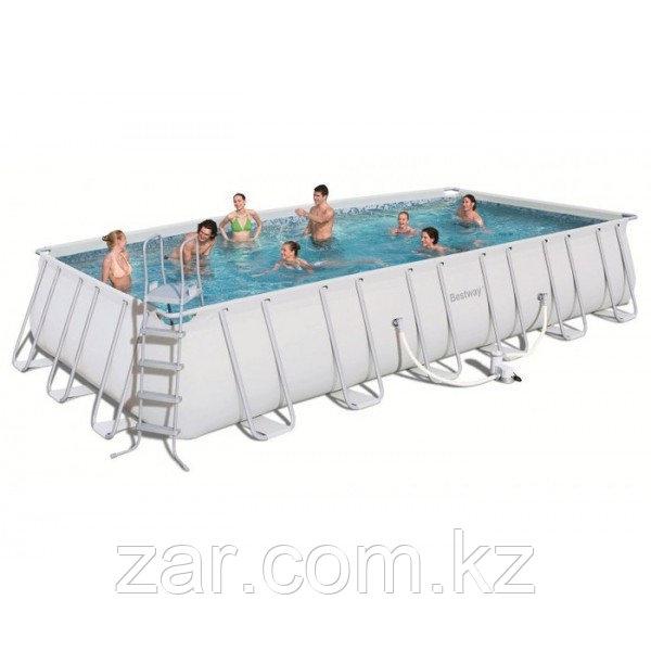 Каркасный бассейн Bestway 56475 (732*366*132 см)песоч.фил.-насос 5678л/ч,тент, лестн., настил