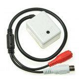 Активный аудиомикрофон для систем видеонаблюдения, 9-12В, 5-150м