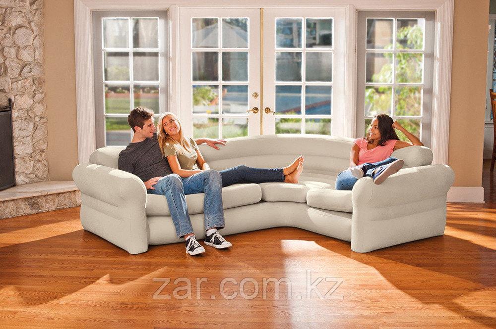 Надувной угловой диван Intex CORNER SOFA 68575