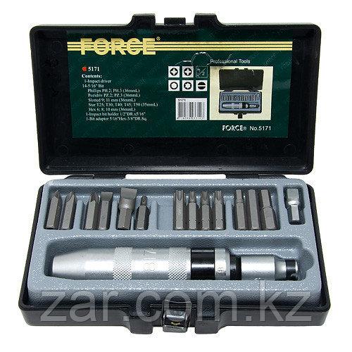 Force 5171 отвертка ударная (17 предметов)