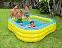 Надувной квадратный бассейн INTEX, 229х229х56 см, Семейная купальня от 6 лет 57495, фото 1