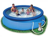 Надувной бассейн INTEX Easy Set Pool, 366 х 76 см + фильтр-насос 28132, фото 1