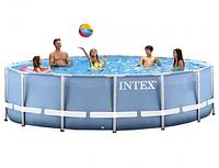 Бассейн каркасный Intex 28734 Prism Frame Pool, 457 х 107 см + фильтр-насос + аксессуары, фото 1