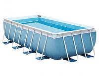 Каркасный бассейн Intex 26792 Prism Frame Rectangular Pool, 488х244х107 см + фильтр-насос + аксессуары, фото 1