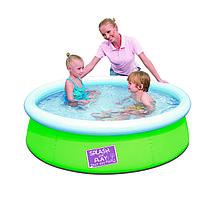 57241 BW Детский бассейн с надувным верхом 152х38см, 480л, 11,5 кг, от 3 лет
