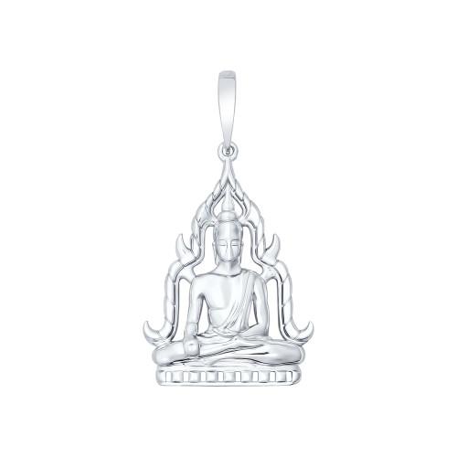 """Серебряная подвеска """" Будда муж """""""