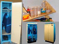 Изготовим электрические сушильные шкафы для сушки одежды и обуви, шкафы для раздевалок и полки хозяйственные м
