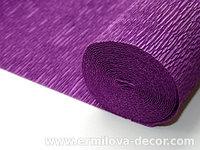 Креппированная бумага  50 см*250см,180г/м.в цвете Bartotecnika Rossi темно-фиолетовый