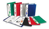 Папка А4 с 20 прозрачными файлами Бюрократ черная/синяя