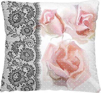 """Декоративная подушка """"Ажурные розы"""""""
