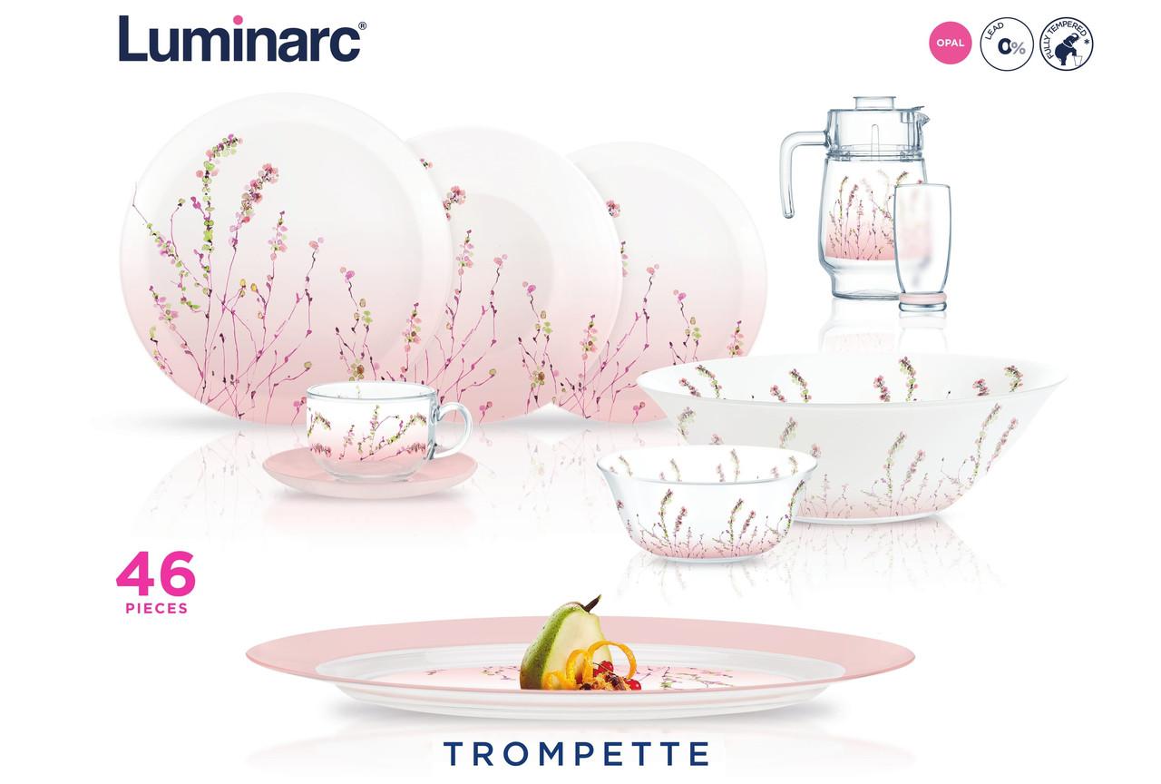 Столовый сервиз Luminarc Trompette 46 предметов на 6 персон