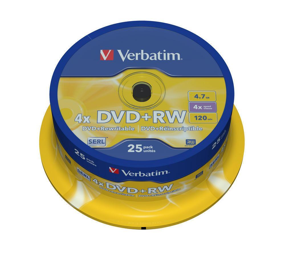 DVD+RW SP-025 4X 4.7GB Verbatim
