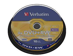 DVD+RW SP-010 4X 4.7GB Verbatim