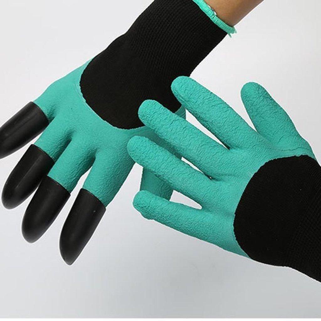 Садовые перчатки с когтями Garden Genie Gloves - фото 1