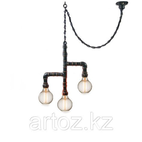 Лампа Industrial Pipe Lamp in chain-3 (№6), фото 2