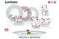 Столовый сервиз Luminarc Ambiente Rozana Begonia 46 предметов