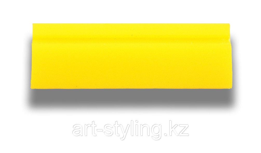 Желтая п/у выгонка Turbo HARD, 11,7 см., прямоугольная с пластиковой ручкой