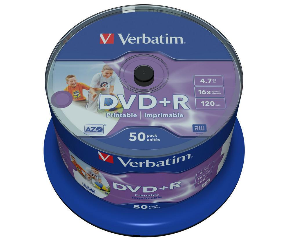 DVD+R 4.7GB Verbatim Printable