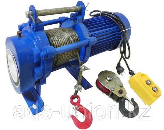 Лебедка электрическая KCD500 гп 500кг/1000кг (H=60м/30м) 380В, фото 2