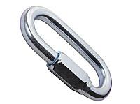 Карабин оцинкованный винтовой для крепления зажима под кабель ОК\Д2 одним обхватом стальной ленты