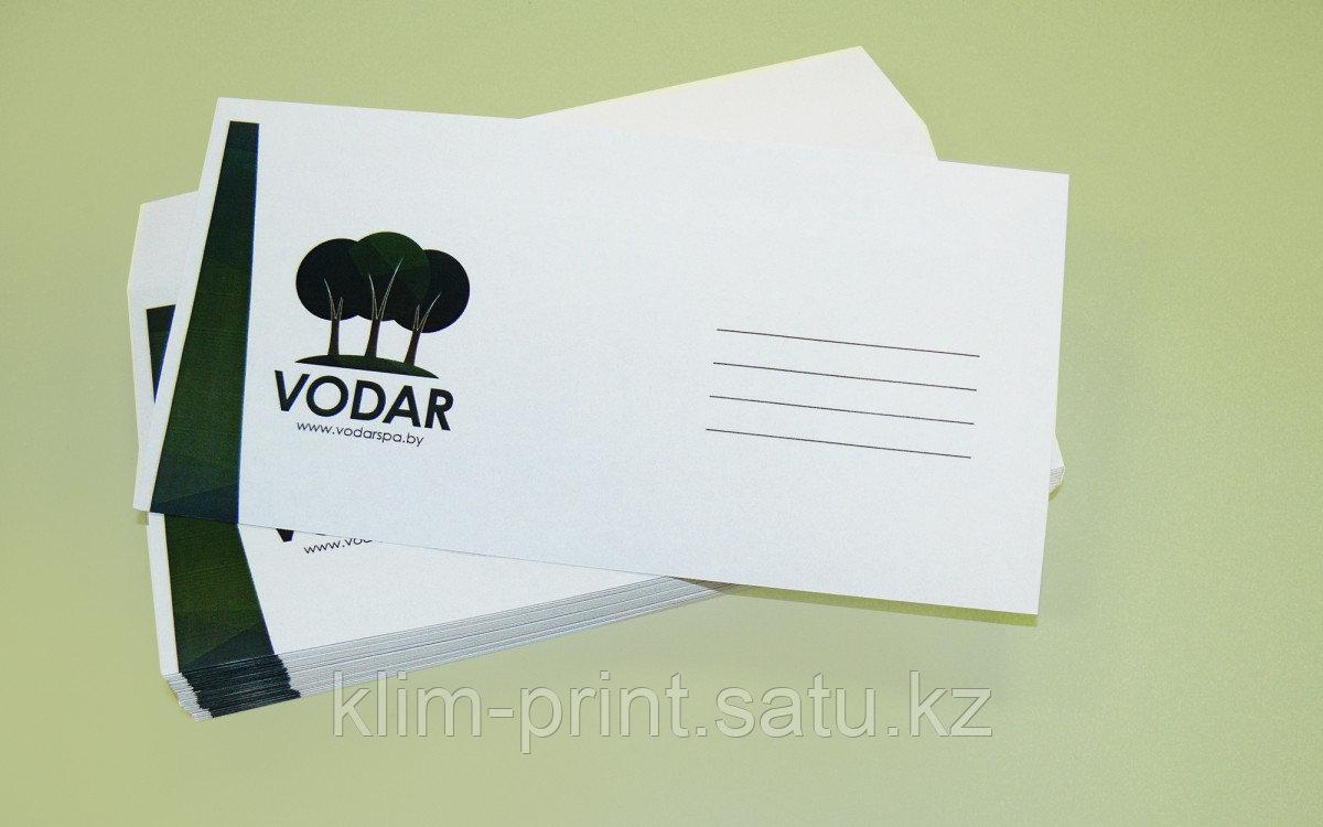 Печать на конвертах дешево А5