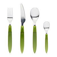 Столовый набор ДИТУ 24 предмета зеленый  ИКЕА IKEA, фото 1