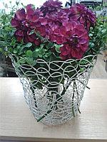 Корзина металлическая кованная. для цветов