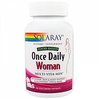 Solaray, Раз в день, витамины для женщин, Multi-Vita-Min, 90  капсул.