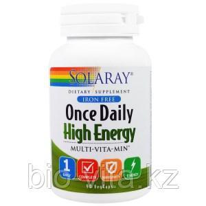 Solaray, Раз в день, усиленная энергия, Multi-Vita-Min, 90  капсул.