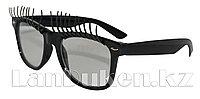Карнавальные очки с ресницами (черные)