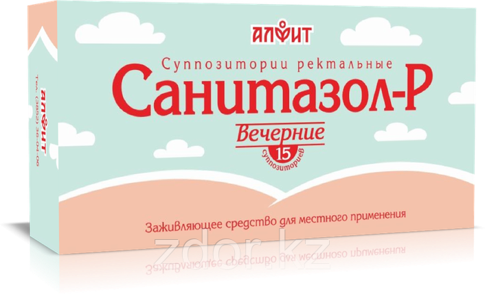 Санитазол-P (вечерние) противовоспалительное средство от геморроя, фото 2