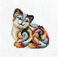 """Набор для вышивания крестом """"Статуэтки.Кошка"""""""