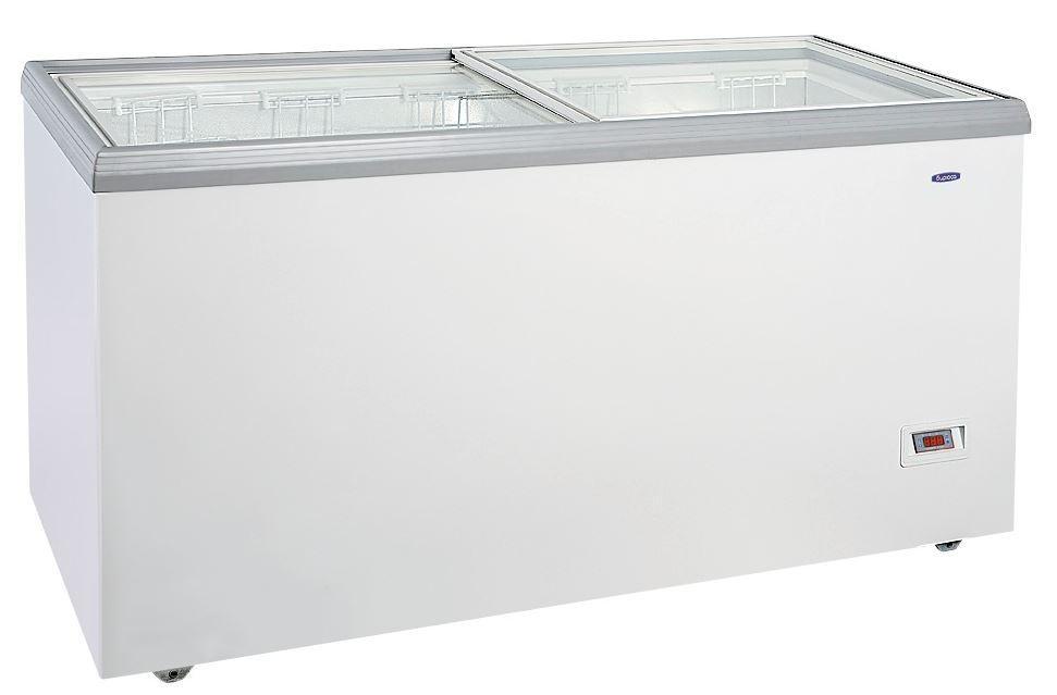 Морозильный ларь Бирюса-455VDZY со стеклянной крышкой
