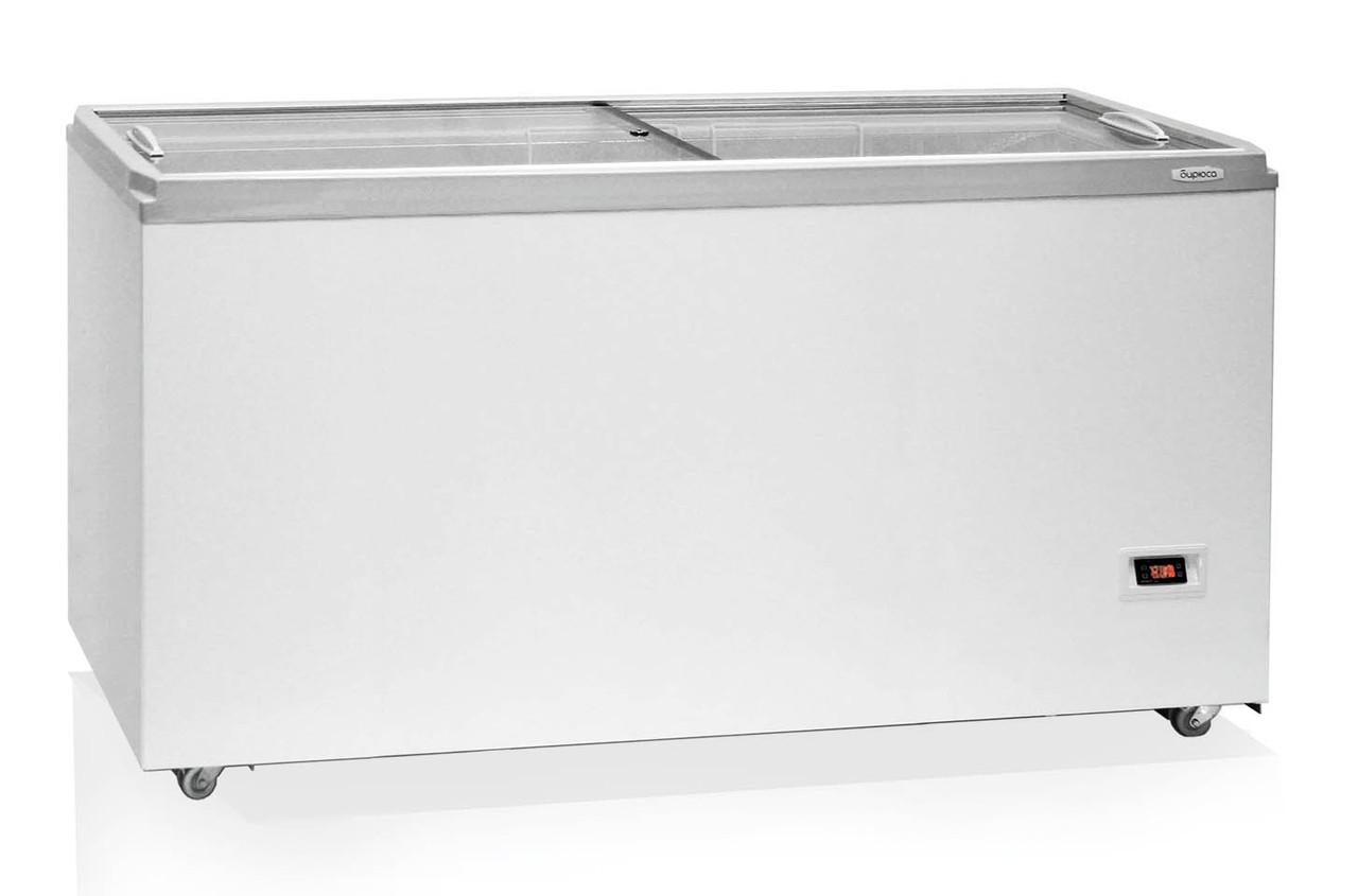Морозильный ларь Бирюса-560VDZY со стеклянной крышкой