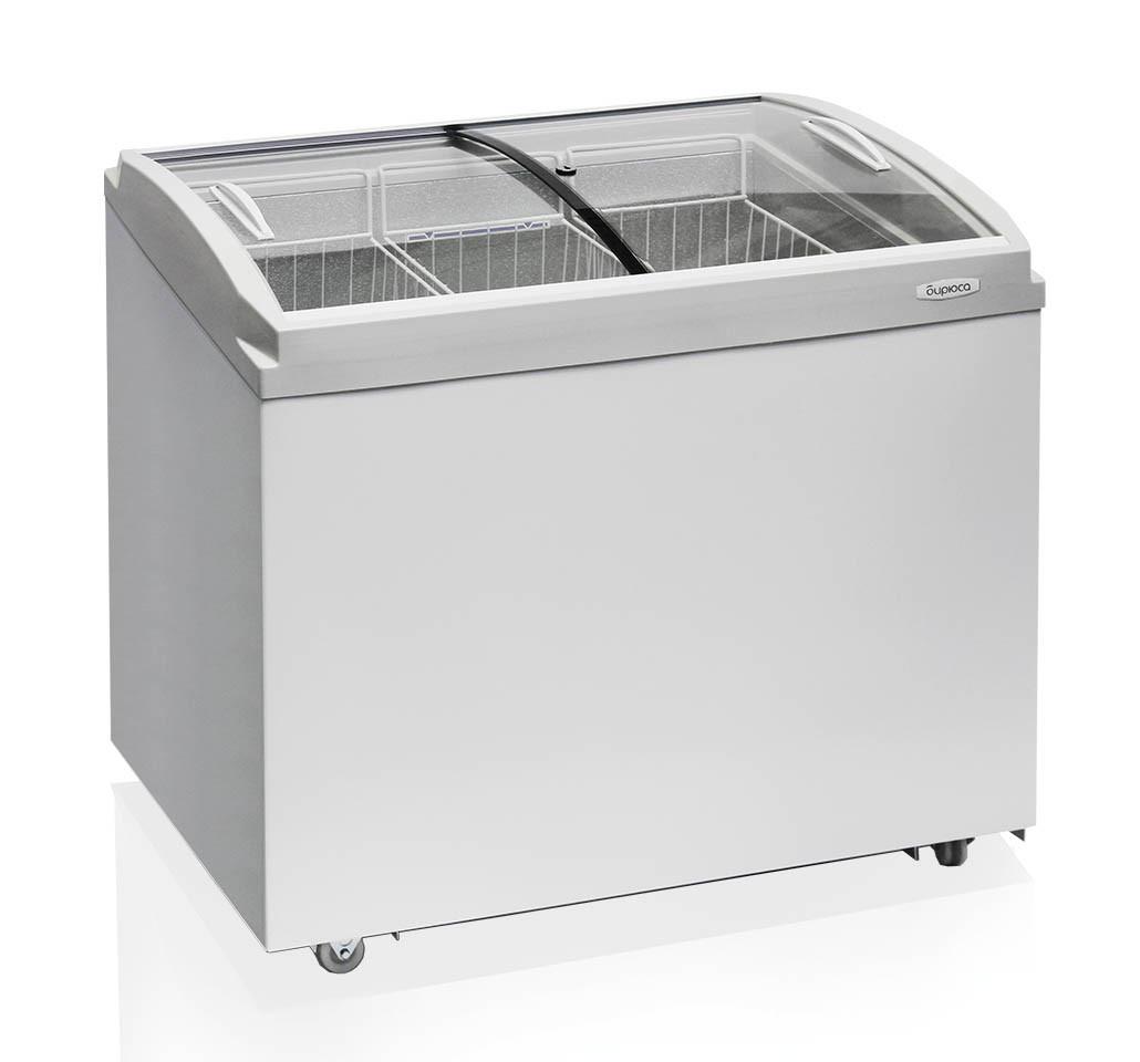 Морозильный ларь Бирюса-260VCZQ со стеклянной крышкой