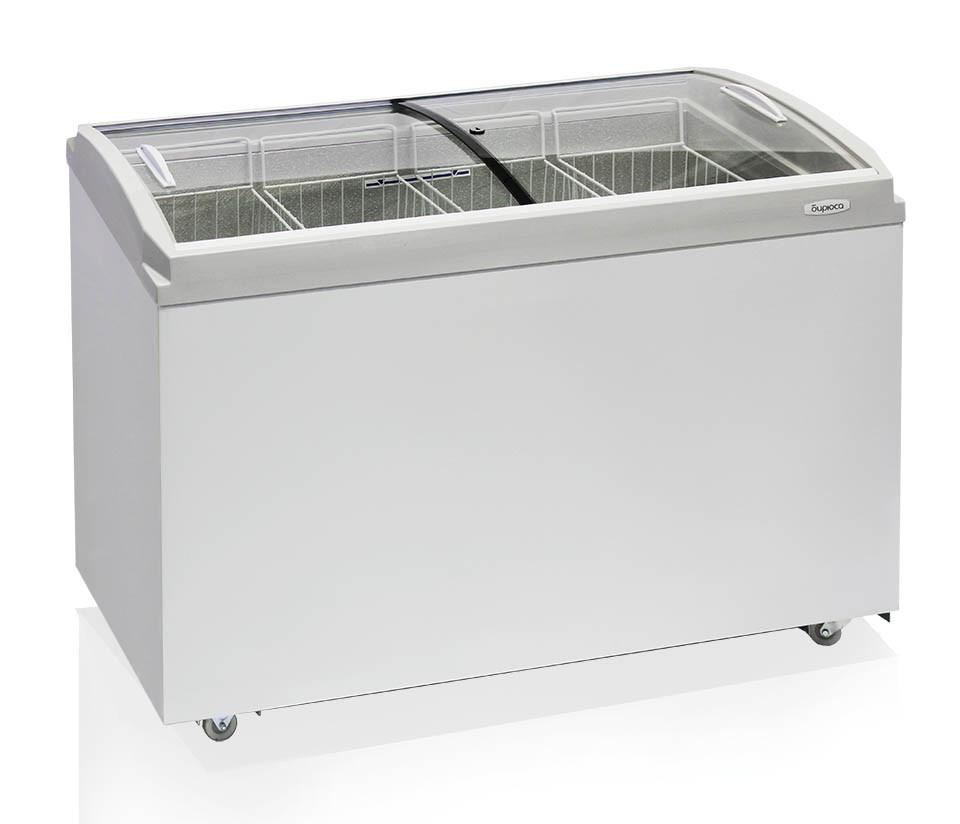 Морозильные лари Бирюса-355 VCZQ со стеклянной крышкой