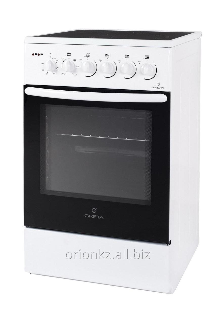 Comarella 01 -E 4 электро конфорки , эл духовка с вертелом (серый)