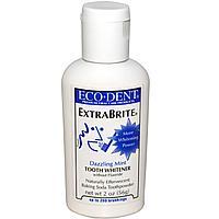 """Eco-Dent, ExtraBrite, отбеливатель зубов, без соединений фтора, """"Ослепительная мята"""",  (56 г)"""