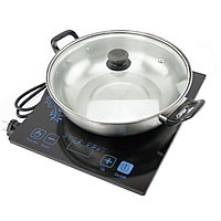 Индукционная плита портативная на 1 конфорку + кастрюля в подарок