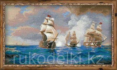 """Набор для вышивания крестом """"Бриг """"Меркурий"""", атакованный двумя турецкими кораблями"""""""